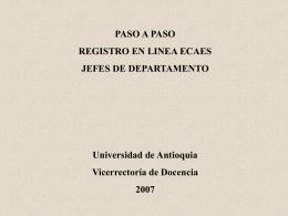 Registro ECAES jefes de departamento