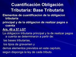 Cuantificación Obligación Tributaria