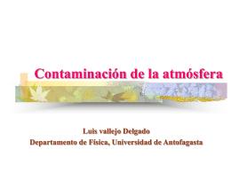 Contaminación Atmosférica - Universidad de Antofagasta
