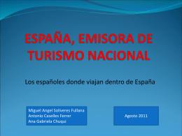 ESPAÑA, EMISORA DE TURISMO NACIONAL
