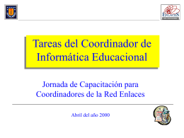 Tareas del Coordinador de Informática Educacional