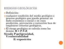 RIESGOS GEOLOGICOS
