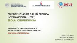 ebola - Ministerio de Salud Pública y Bienestar Social