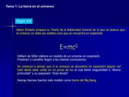 Tema 1: La tierra en el universo