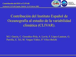 Contribución del Instituto Español de Oceanografía