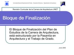 Bloque de Finalización - Lia - Universidad Nacional Experimental