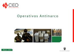 Operativos - Anti - narco - Centro de Estudios de Opinion