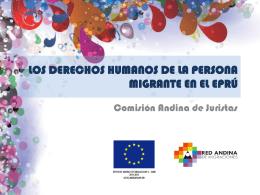 Diapositiva 1 - Comisión Andina de Juristas