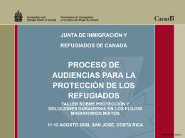 Proceso de Audiencias para la Protección de los Refugiados