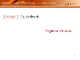 Primera derivada
