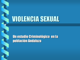 LA VIOLENCIA SEXUAL EN ESPAÑA