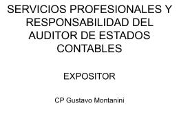 RESPONSABILIDAD DEL AUDITOR DE ESTADOS CONTABLES