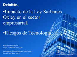 Introducción – Sarbanes-Oxley