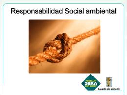 Responsabilidad Social ambiental