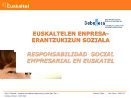 Responsabilidad Social empresarial de Euskaltel