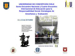 La responsabilidad social - Universidad de Concepción