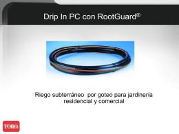 Sistema RootGuard de riego subterráneo por goteo para