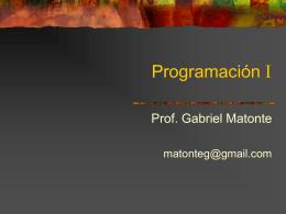 programas - Prof. Gabriel Matonte