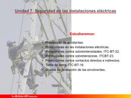 07 Seguridad en las instalaciones eléctricas