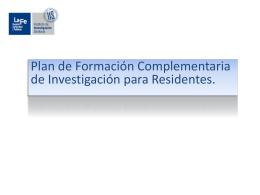 DOCENCIA POST GRADO - Instituto de Investigación Sanitaria La Fe