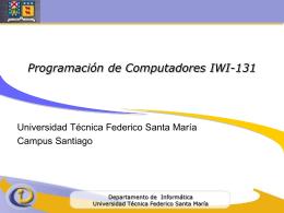 Programación de Computadores IWI-131 - ramos on