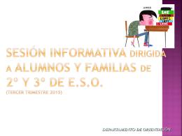 charla orientacion familias 2º y 3º eso
