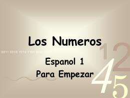 Los Numeros - SpanishAdell