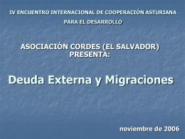 Deuda y Migraciones.General
