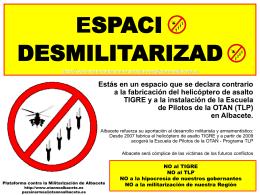 Espacio Desmilitarizado - Plataforma contra la Militarización de