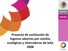 Estrategia de implementación de estufas ecológicas de SEDESOL