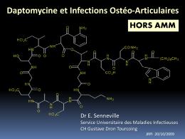 Daptomycine et infections ostéo-articulaires - Infectio