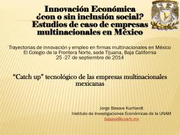 Colegio de la Frontera Norte 2014 presentación