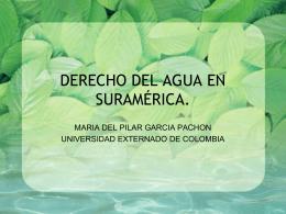 Agua en Suramérica.