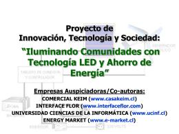 """Programa: """"Iluminando Comunidades con"""