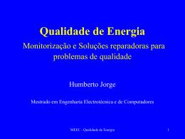 Soluções reparadoras - Laboratório de Gestão de Energia