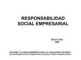 empresa y responsabilidad social - Facultad de Ciencias Económicas