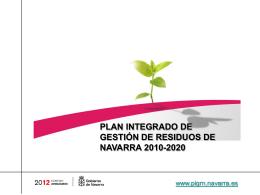 Presentación PIGRN - Gobierno de Navarra