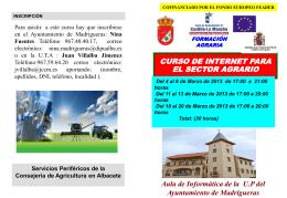 curso internet para el sector agrario
