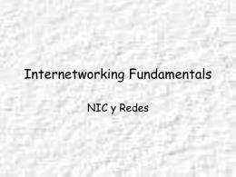NIC y Redes - Profesor Cesar Guisado