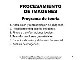 Tema 4, curso del prof. Ginés García Mateos