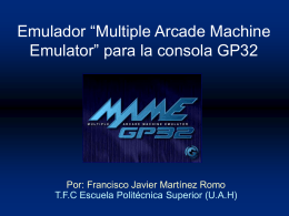 "Emulador ""Multiple Arcade Machine Emulator"" para la"