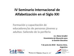Seminario Internacional de Extensión y Educación Agraria