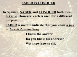 SABER vs CONOCER