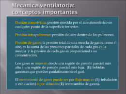 Mecánica ventilatoria: conceptos importantes