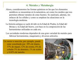 4. Metales y Metalurgia