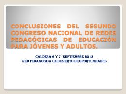 Conclusiones .Congreso 2013 (1)