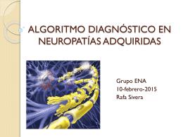 Algoritmo diagnóstico en Polineuropatías adquiridas.