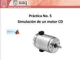 Simulación de un motor CD.