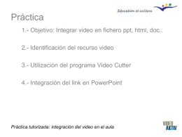 Práctica tutorizada: integración del video en el aula