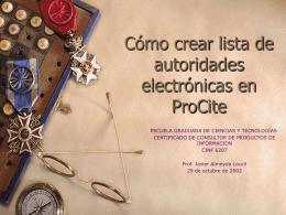 Como crear listas de autoridades electronicas